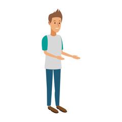 Young man cartoon vector illustration graphic design
