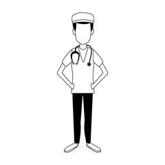 Surgeon doctor cartoon vector illustration graphic design