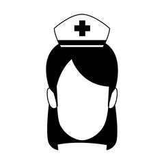 Nurse faceless cartoon vector illustration graphic design