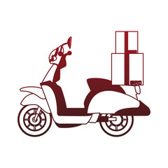 Scooter with boxes vector illustration graphic design