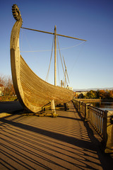 Drakkar (Viking wooden boat)