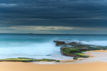 Blue and Green Morning Seascape