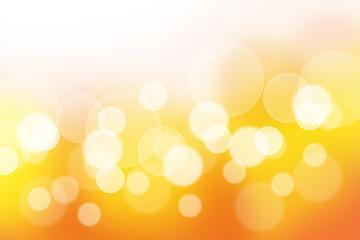 オレンジ色と黄色のボケ(背景素材)