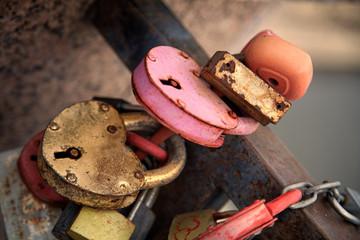 Heart  locks for lovers