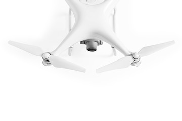 Wall Mural - white drone isolated on white background