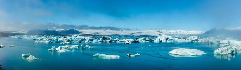 Printed kitchen splashbacks Glaciers Glacier Bay in Iceland