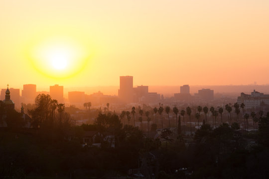 Sunset on Korea Town Los Angeles
