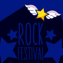 Rock festival cartoon