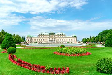 Fond de hotte en verre imprimé Vienne Schloss Belvedere in Wien