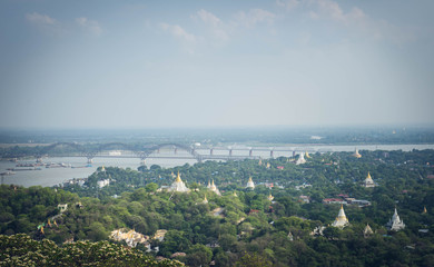Myanmar (Burma) Countryside - Temple View