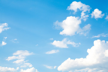 Blue sky with white cloud