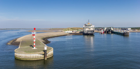 Ferry harbor at Texel island in Holland, The Netherlands Wall mural