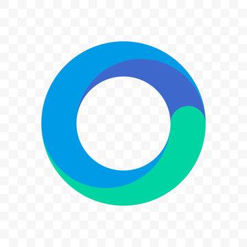 Circle blue round vector icon