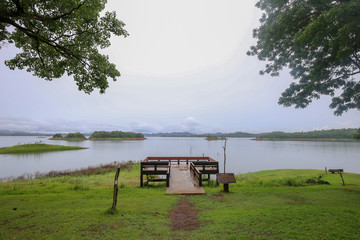 Khao Laem National Park or Pompee, Kanchanaburi, Thailand. National Park with lake and nature best for camping