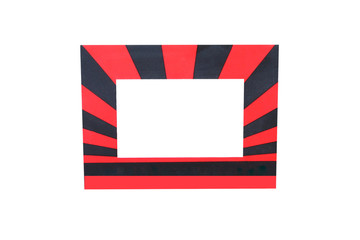 Colorful red and black picture frame