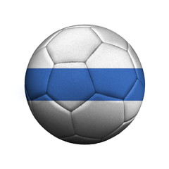 The flag of Altai Republic is depicted on a soccer ball