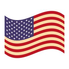 waving united states of america flag vector illustration