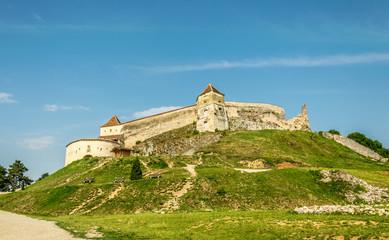 Medieval Saxon fortress Rasnov. Transylvania, Romania