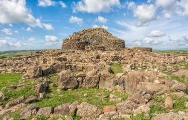 Nuraghe 'Su Nuraxi' in Barumini, Sardinia, Italy; a wonderful place that now since 1997 has been enrolled in Unesco World Heritage Lists because of its uniqueness.