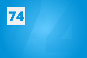 74 - Number seventy
