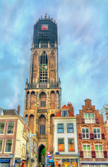 View of the Dom Tower of Utrecht, the Netherlands