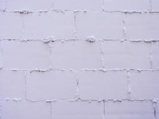 白にペイントしたブロック壁