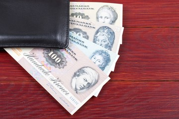 Old money from Denmark in the black wallet