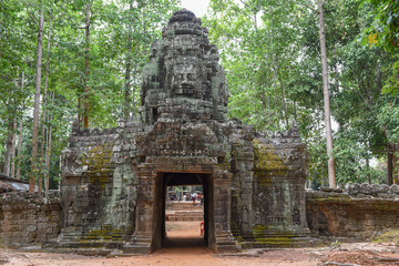 Siem Reap, Cambodia - 11 January 2018: Ta Som temple at Angkor complex in Siem Reap on Cambodia