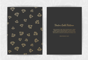 invitation card with diamonds . Vector illustration.
