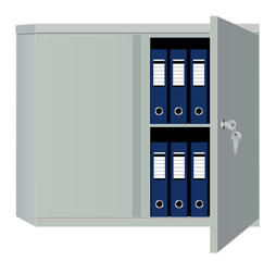 Filing cabinet isolated over white background vector eps 10