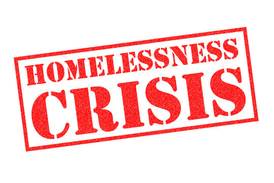 HOMELESSNESS CRISIS Rubber Stamp