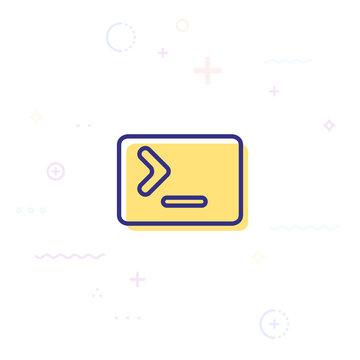 Vector illustration of command line icon design