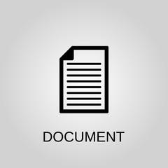 Document icon. Document symbol. Flat design. Stock - Vector illustration