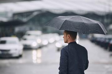 Rain in city