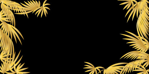A palm leaf. Abstract pattern for the background of banners and sites .Vectoral illustration.