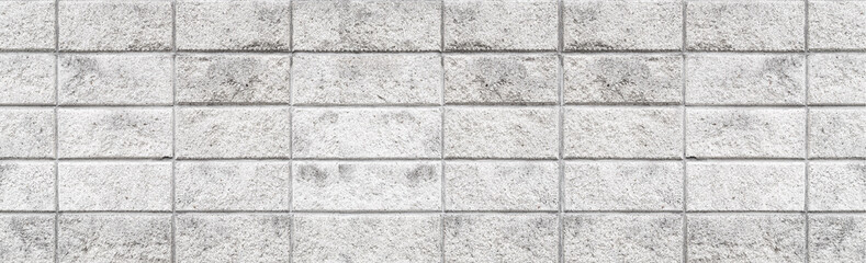 Panorama of Cement block wall pattern and seamless background