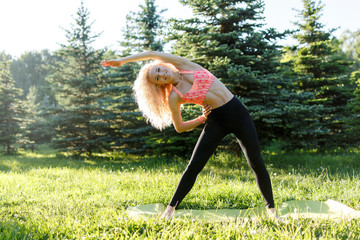 Picture of female athlete practicing fitness