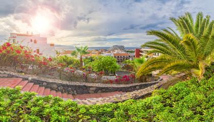 Wall Mural - Puerto de Santiago city,  Atlantic Ocean coast, Tenerife, Canary island, Spain.