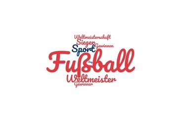 Fußball Weltmeisterschaft Wortwolke