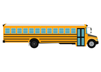 School bus vector illustration. Isolated on white background.