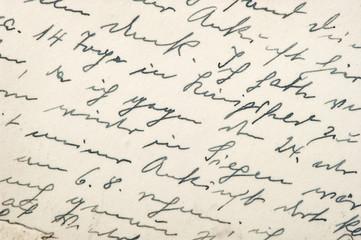 Handwritten text Vintage texture background paper