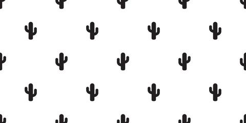 cactus seamless pattern vector flower summer plant garden Desert botanica isolated background repeat wallpaper