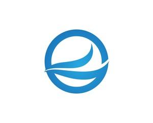 Wave water logos Template