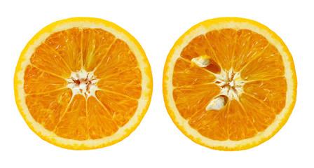 Orange crop isolated