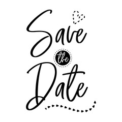 Wall Mural - save the date wedding calligraphy