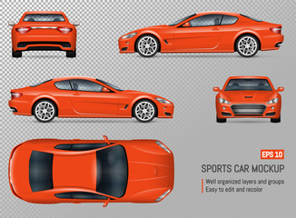 Realistic vector sports car