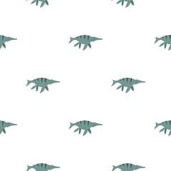 Ichthyosaur dinosaur pattern seamless for any design vector illustration