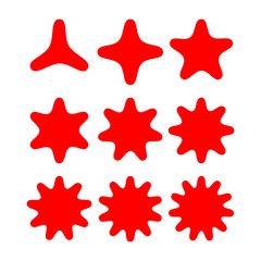 abstract stars shape with variety pointed. star symbol. vector template ready for use