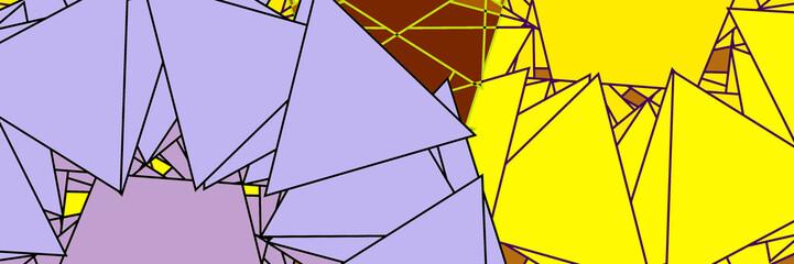 фон с сиреневыми и желтыми треугольниками