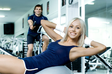 fitness couple in gym